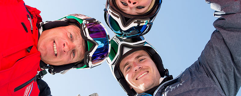 Skifahrer am Hochkönig
