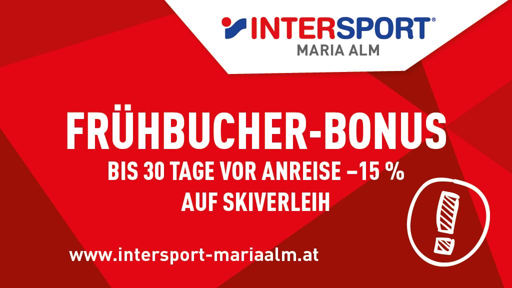 Frühbucher Bonus Onlinebuchung