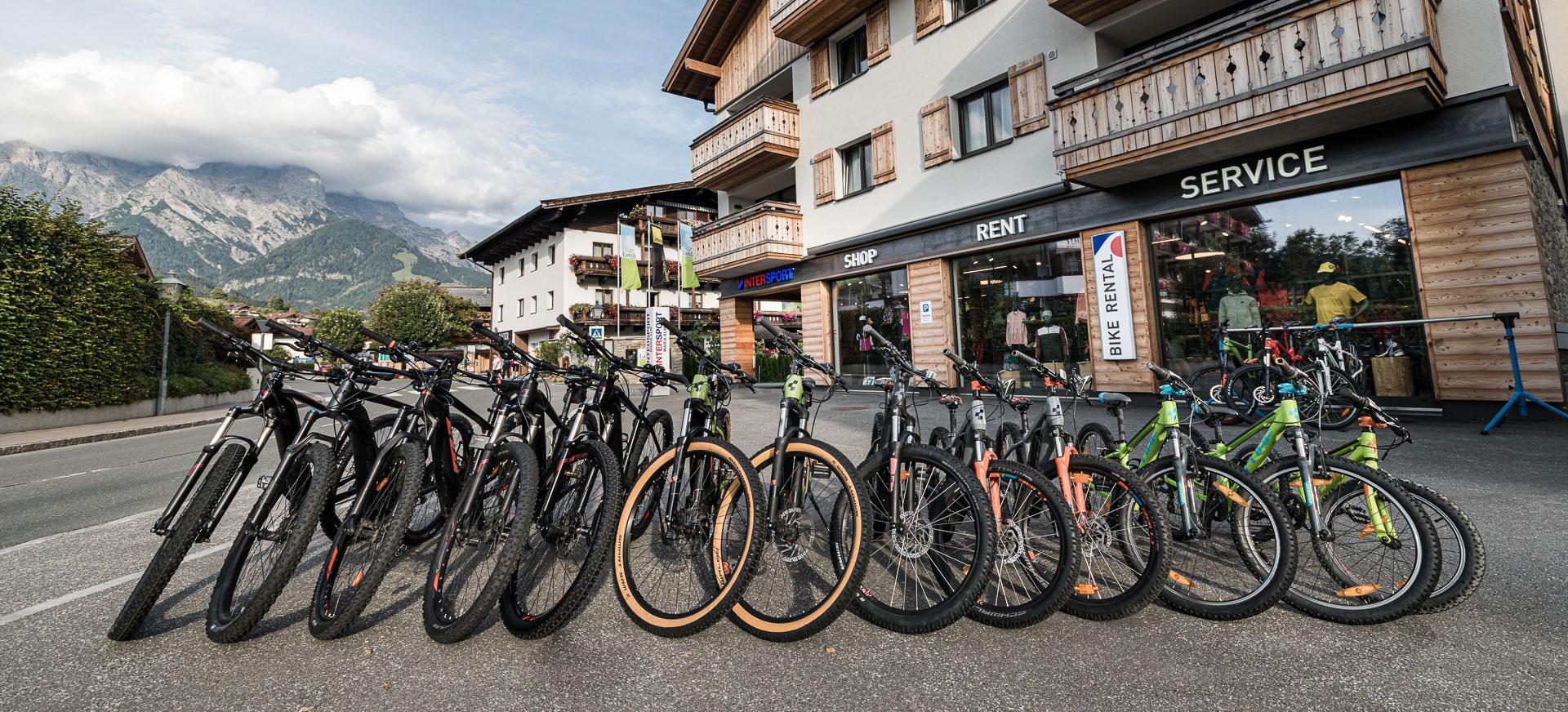 Bike Verleih im Intersport Maria Alm